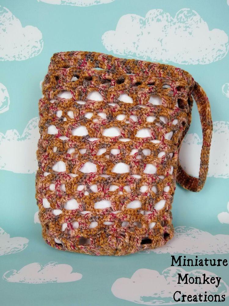 Skull Market Bag? crocheted Sub - miniaturemonkeycreations | ello