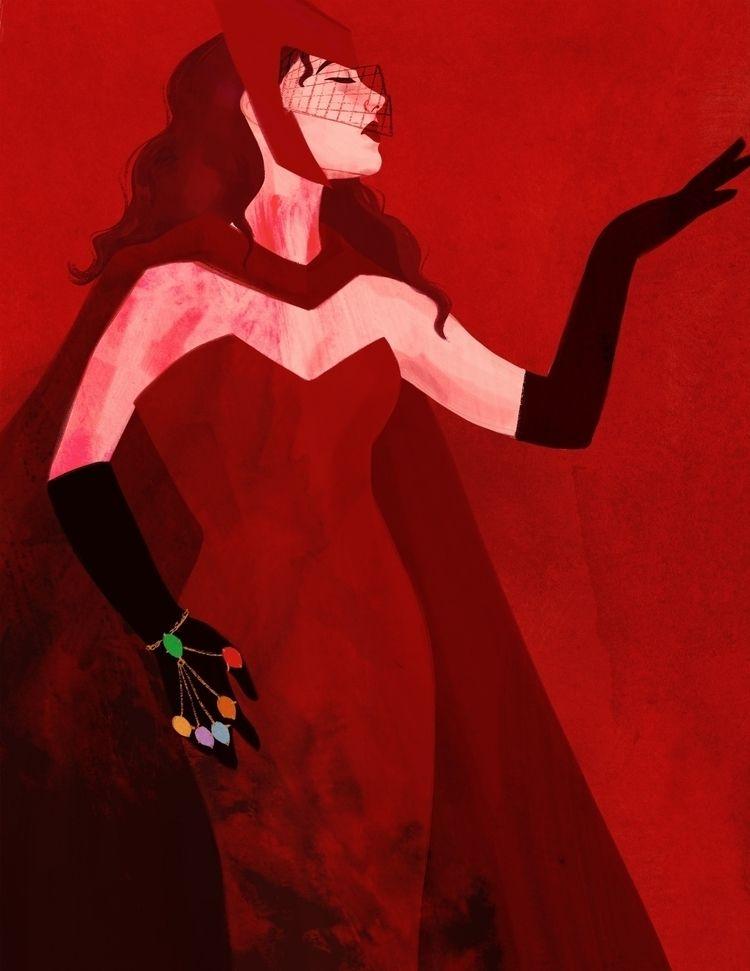 Scarlet Witch - comics, digitalart - cariguevara | ello