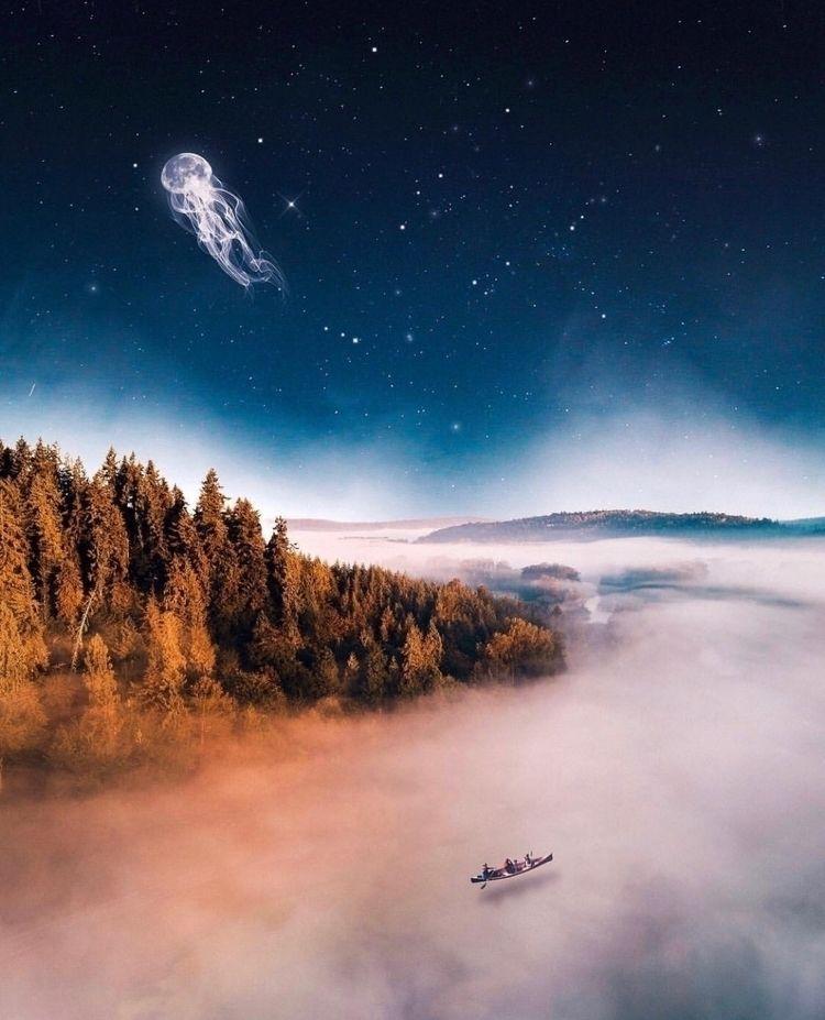 brings life!  - landscape, stars - nick_asphodel | ello