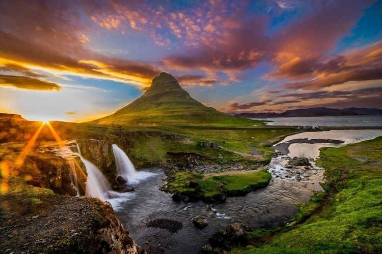 crazy vibrant sunset photograph - benjamineil | ello