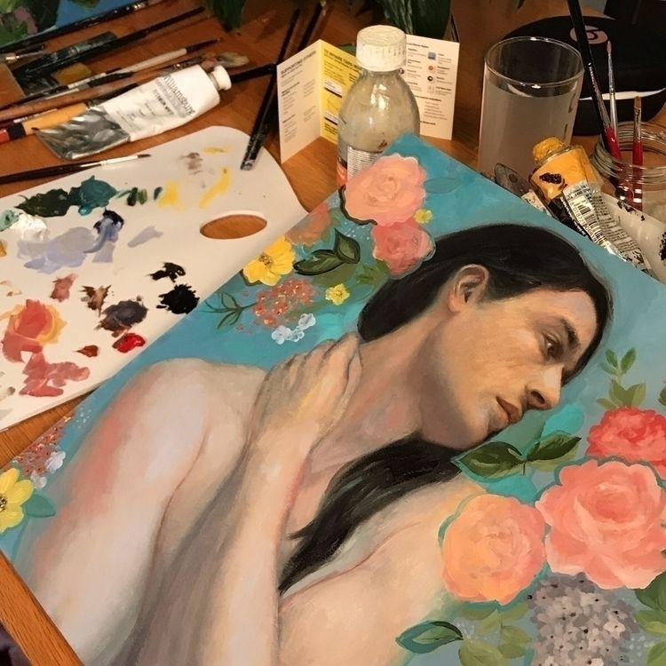 working - wip, workinprogress, painting - meredithmarsone | ello