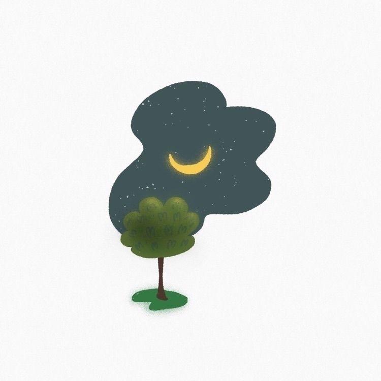nature, tree, nightsky, moon - todovisual | ello