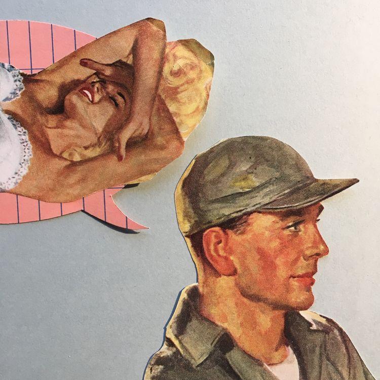 collage, pinup, muscleman, sailor - danielletcole | ello