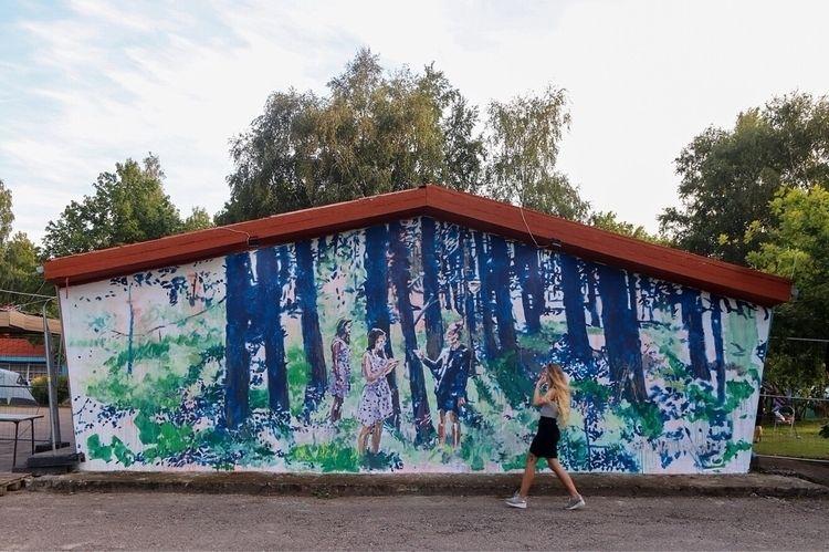 Forest mural painting Karkle, K - rutavm | ello