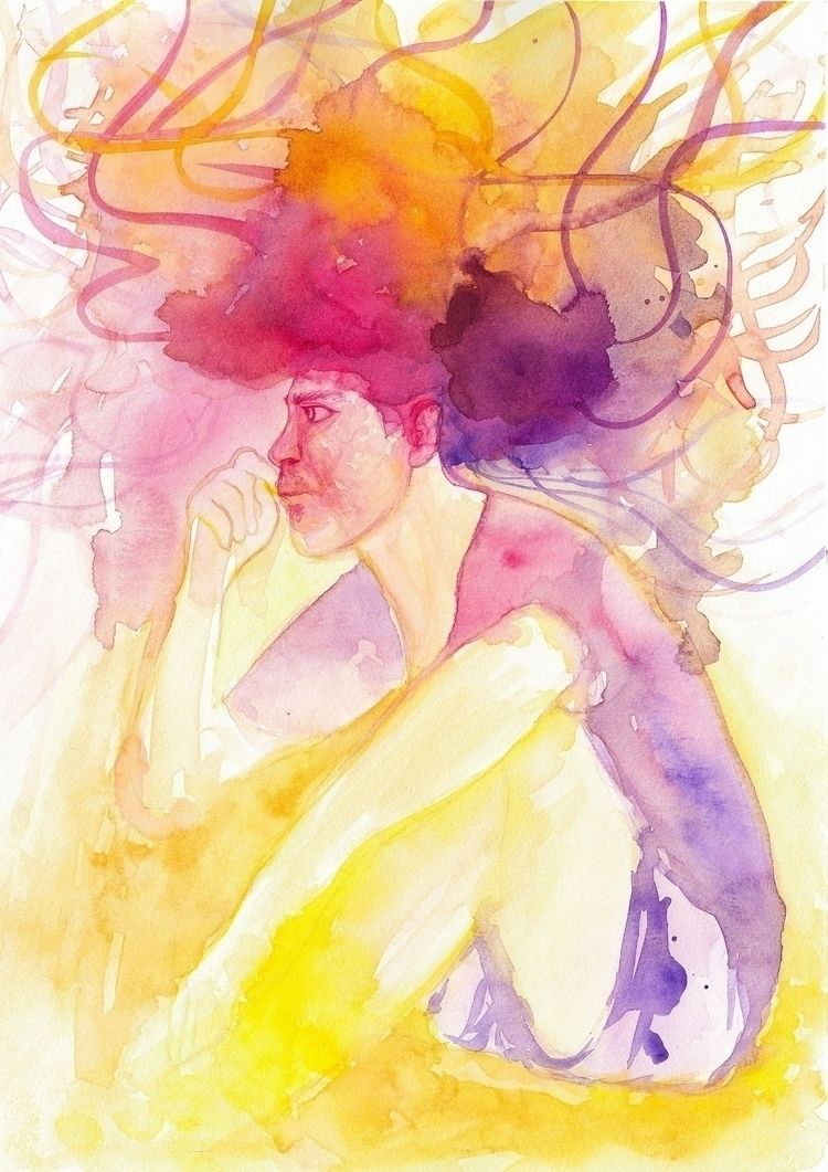 Afro Man Sketch · watercolor sk - dianadimart | ello