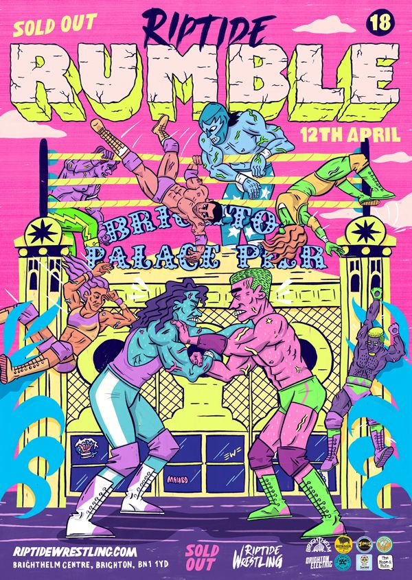 Riptide Rumble poster - illustration - eastworthingsfinest | ello