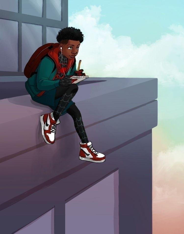 illustration, art, spiderman - ensignlangley   ello
