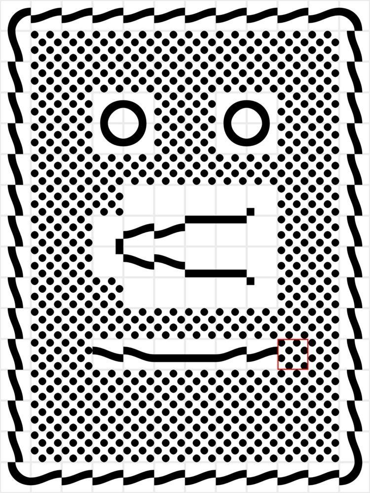 Drew emoticon face risoprinted  - frisoblankevoort | ello