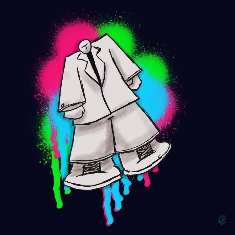 Big man lil brain - doodle, suit - cliff-c-black | ello