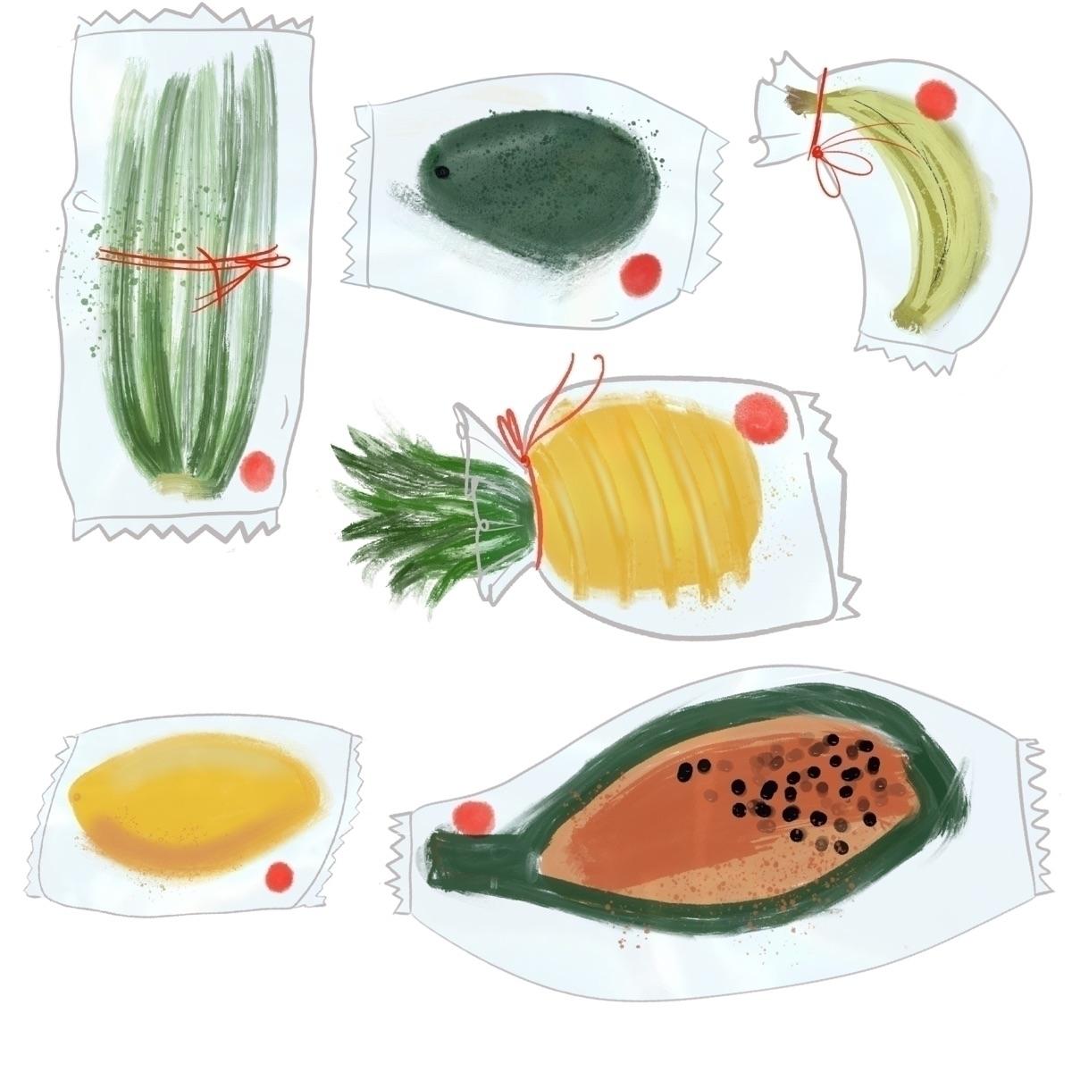 fruit, foodart, food, pineapple - julia_krenta | ello