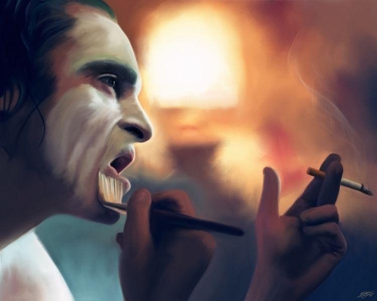 Joker latest fanart upcoming mo - davekey_art   ello