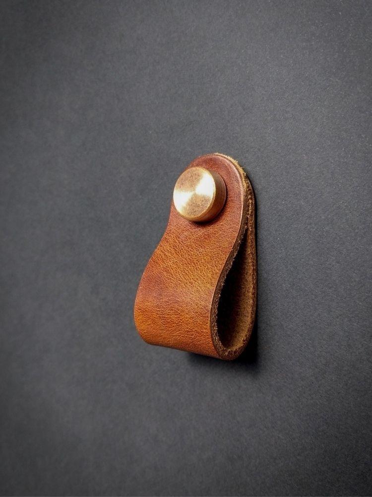 Leather cabinet pulls stock - strapandgo | ello