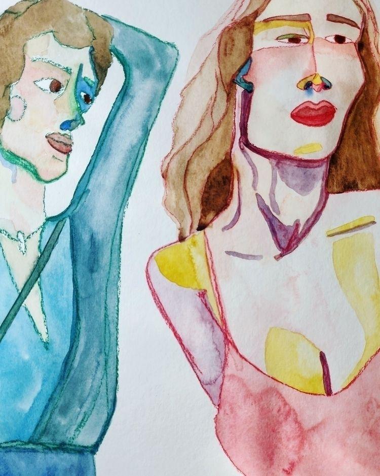 wip - soft pastels watercolor  - ceeceepodahl | ello