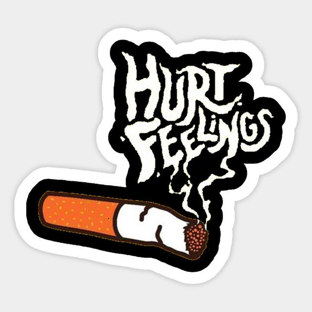 Custom Sticker- Hurt Feelings - graphic - thecommas   ello