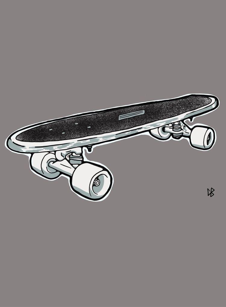 School Skateboard Illustration - cliff-c-black | ello