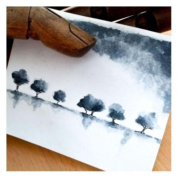 Minisketch - treescape, watercolorillustration - melanismde   ello