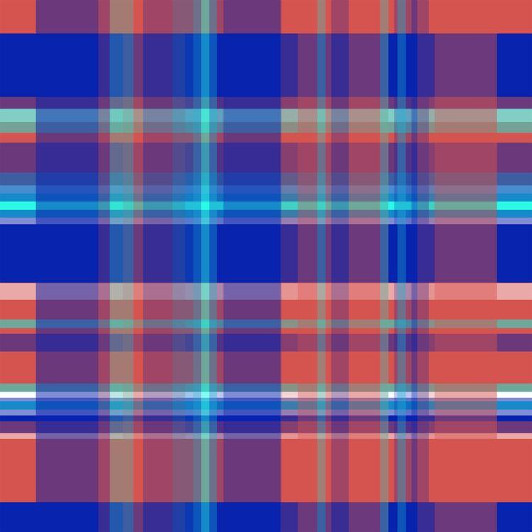 Striped 2X Blue Red Digital Wor - istvanocztos | ello