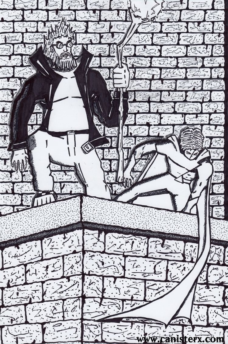 Axiom-man Jeff Auroraman. drawn - apfuchs | ello