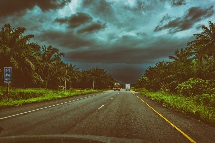 storm - driving, highway, Thailand - christofkessemeier | ello