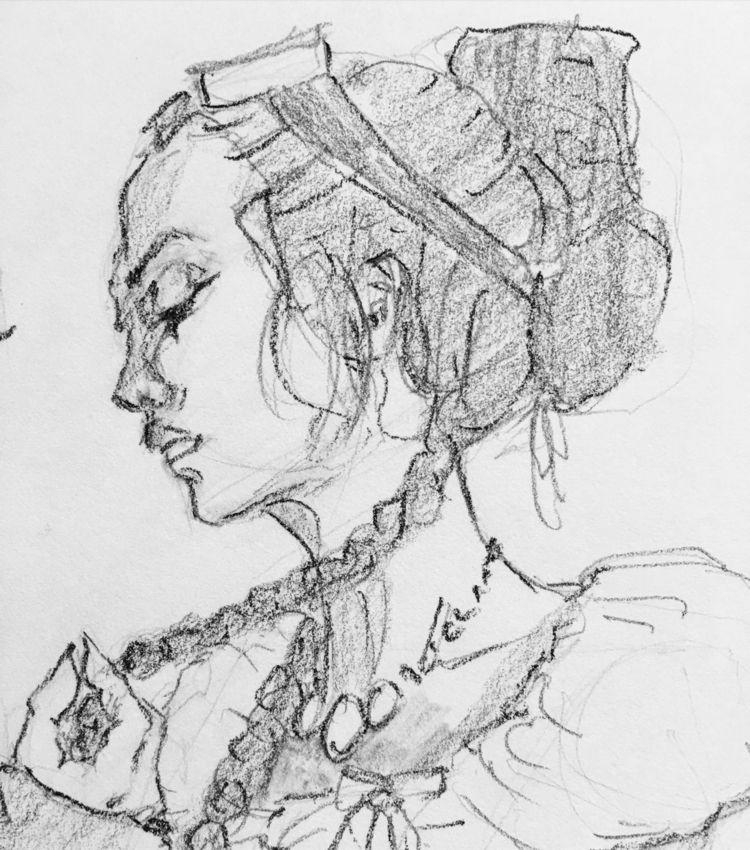 Listening affection - draw, comic - coyotehowl | ello