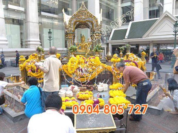 thờ thần 4 mặt thái lan ở Chùa  - dieukhacdaninhvan   ello