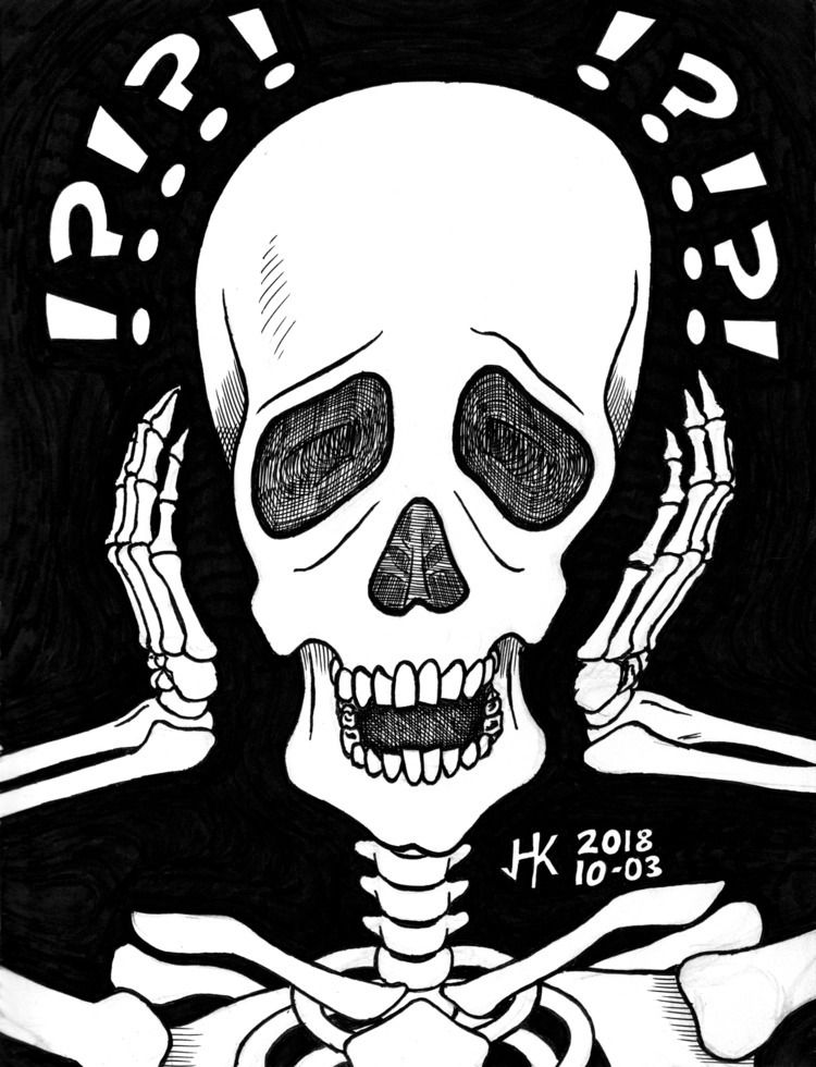 Inktober 2018 / 10-03 Skeleton  - bunnyk | ello