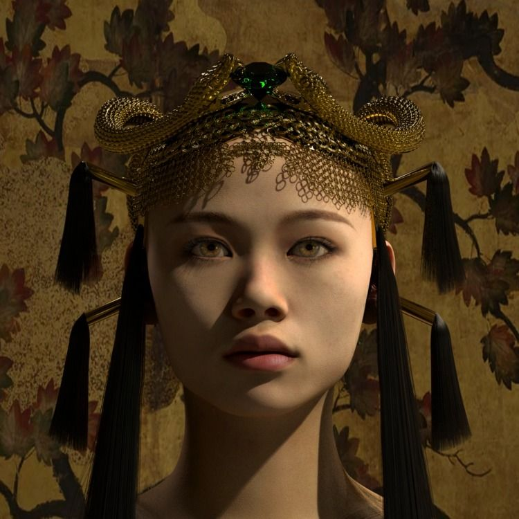 Empress - 3D, digital, sculpture - z3rogravity   ello