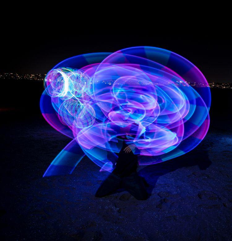 Fire/LED photography meet Fiest - gidge71   ello