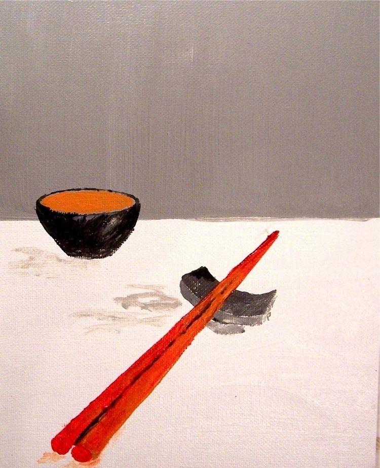 Red Chop Sticks .. Asian-inspir - artisticojuancarlos | ello