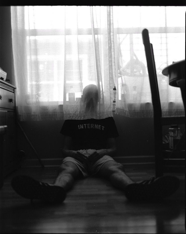 Late head - blackandwhite, film - bruce_themoose | ello