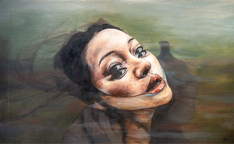 Floating moment. 50x80cm  - paint - zoelunar | ello