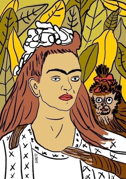 Frida Kahlo monkey! Comment pri - shacyz | ello