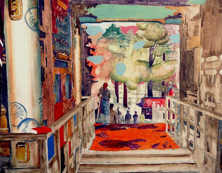 Temple entrance. Painting Peter - peterhallberg   ello