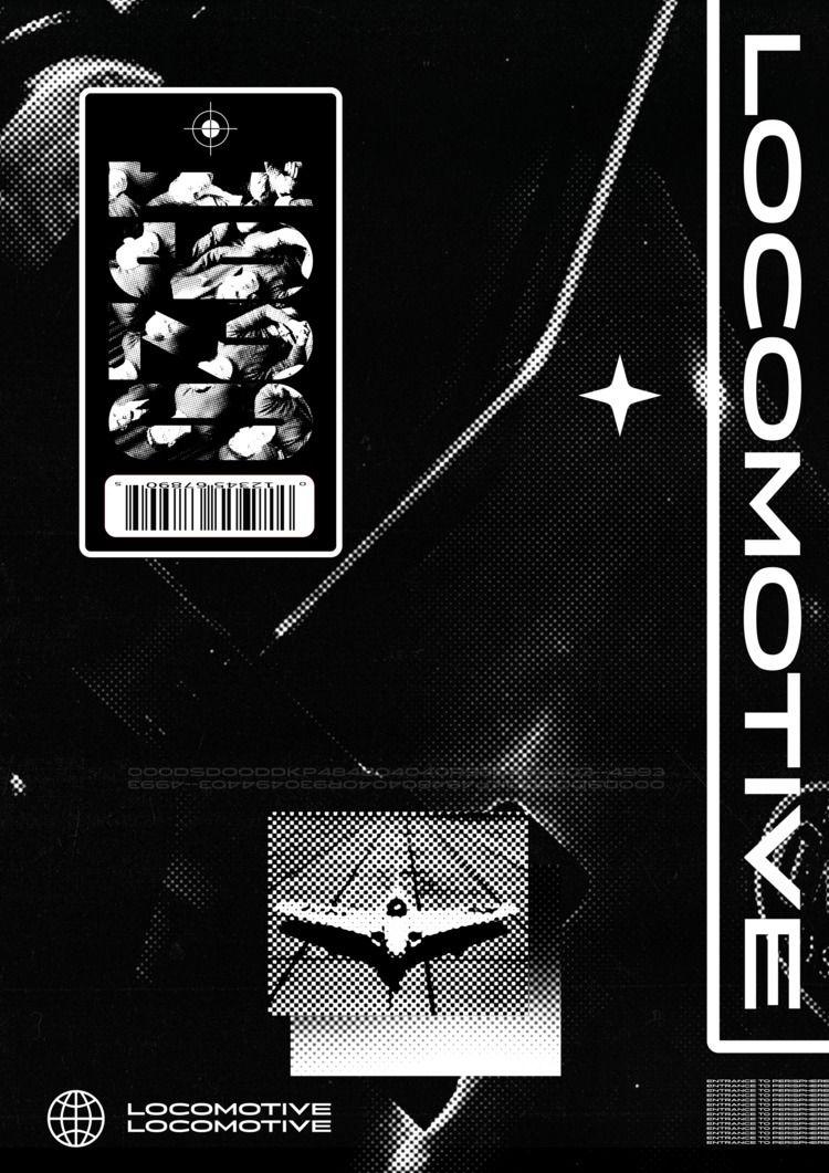 1920 - Locomotive - poster, experimental - andrelopesbatista | ello