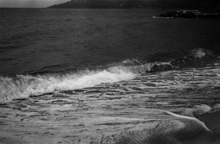 analog, beach, argentique, noirblanc - ol_sea | ello