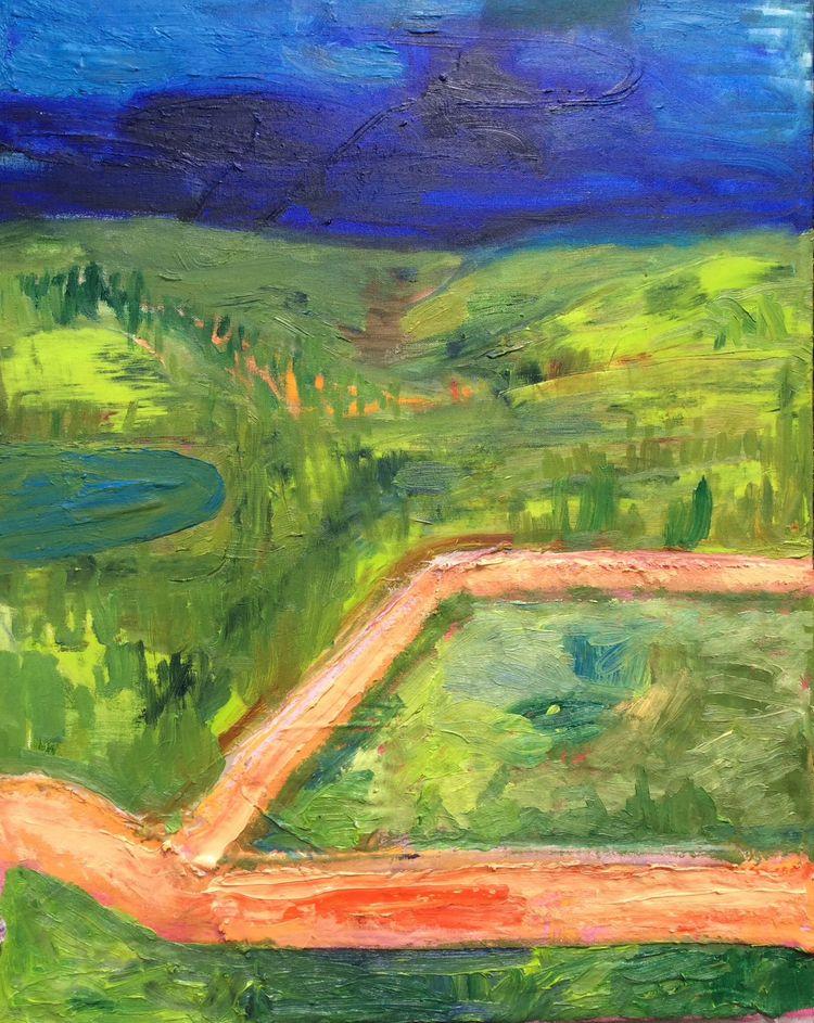 Fork Road - painting, drawing, landscape - dan_corrigan | ello