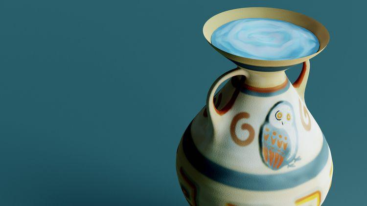 Hand-painted greek amphora Sket - zupmedia | ello