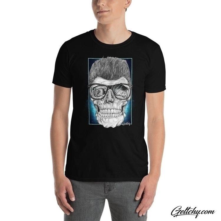 Greaser Tee - skull, originalart - geltchy | ello