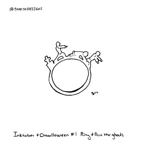 Inktober Drawlloween Day 1 - Ri - svaeth | ello