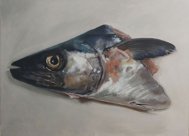 Fish Head Oil wood, 18x24 - darbylyn | ello