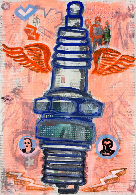 Hommage à Spark Plug 04, painti - boraistudio | ello