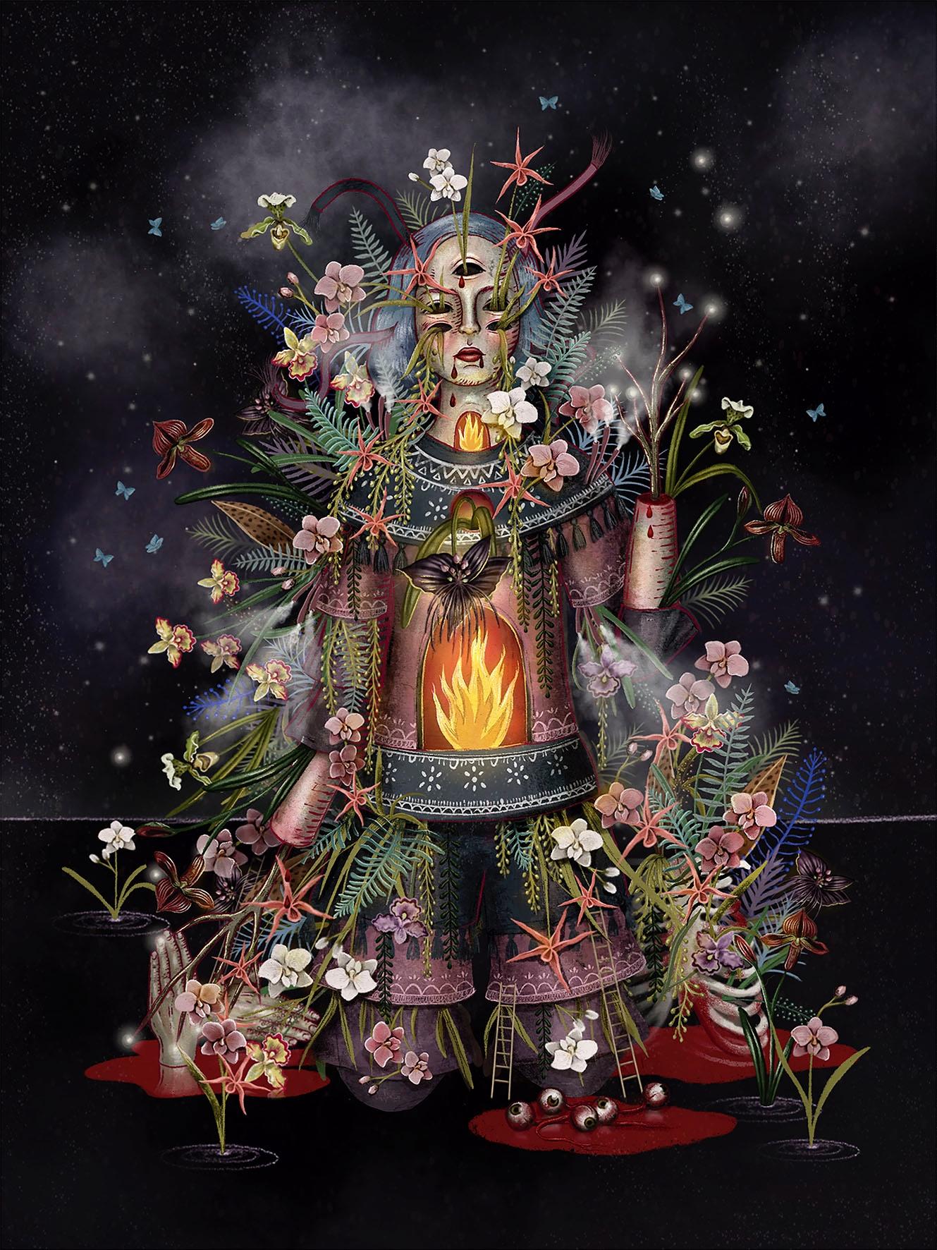 Orchid Garden Digital Art Ale D - aledelatorre | ello
