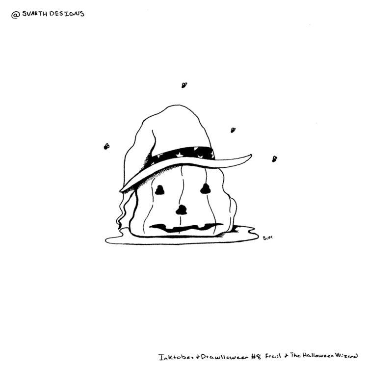 Day 8 - Frail Halloween Wizard  - svaeth | ello