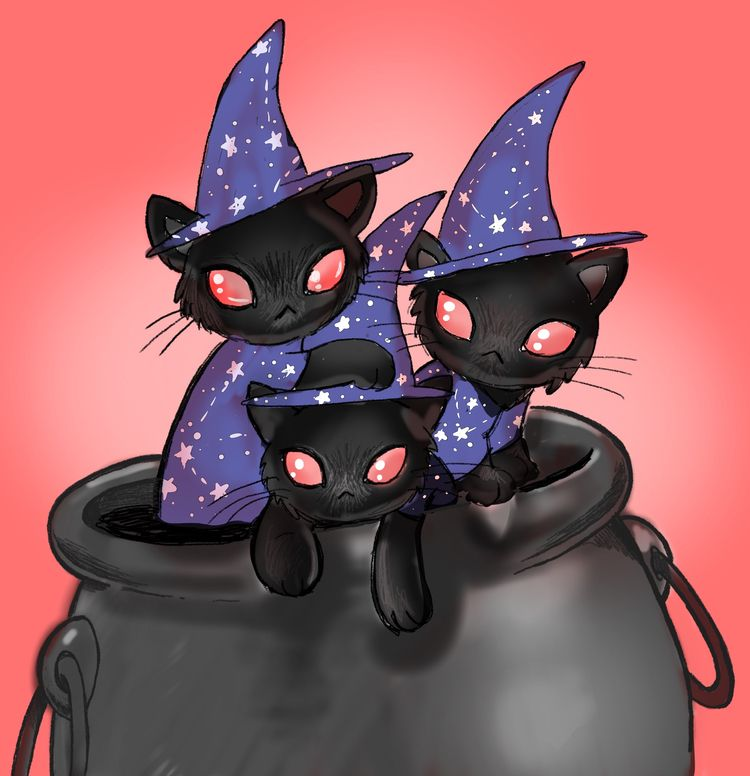 Drawlloween day 9 - coven black - smushbox | ello
