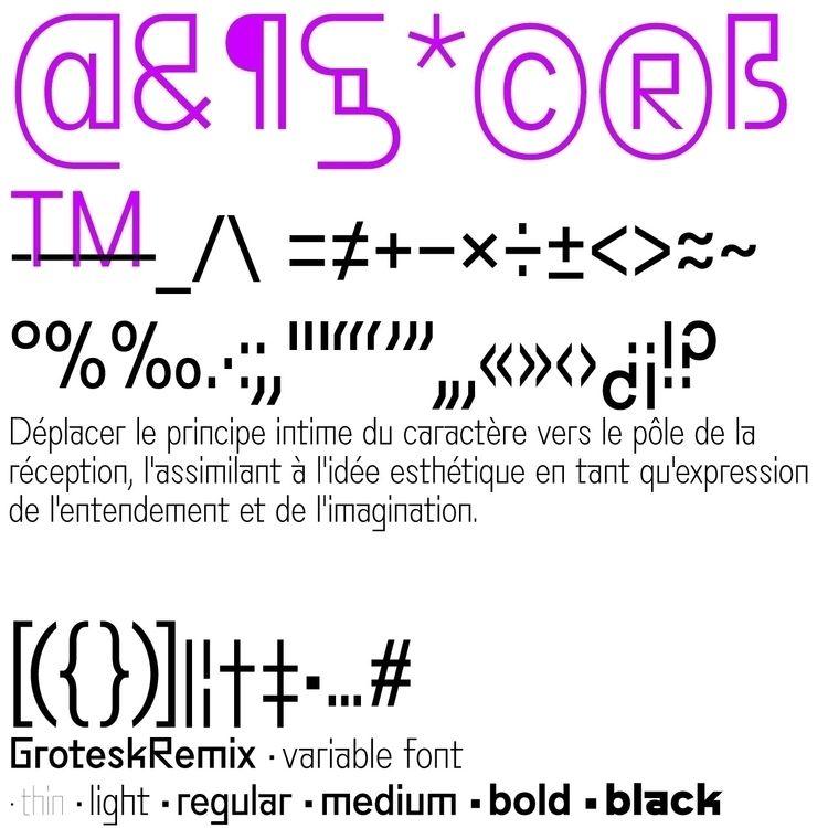 TYPE GroteskRemix - typedesign, typography - bb-bureau | ello