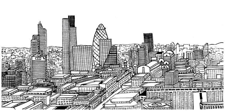 cityscape illustration London,  - clayton_bouldin | ello