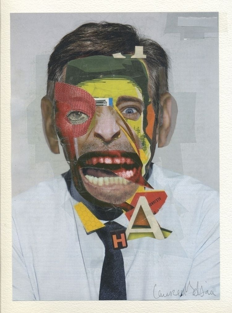Monkey Scream Paper collage 23  - laurentseljan | ello