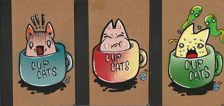 Cup cats - taccuini / sketchboo - demonescuro | ello
