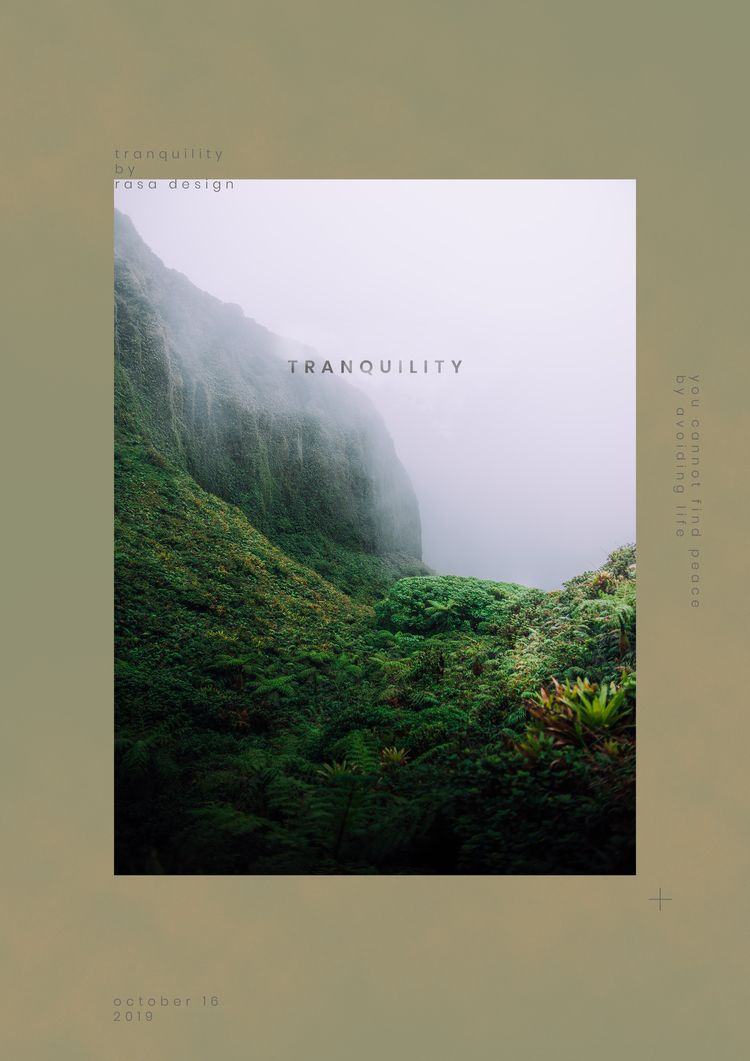 Tranquility Poster Design RASA  - rasadesign   ello