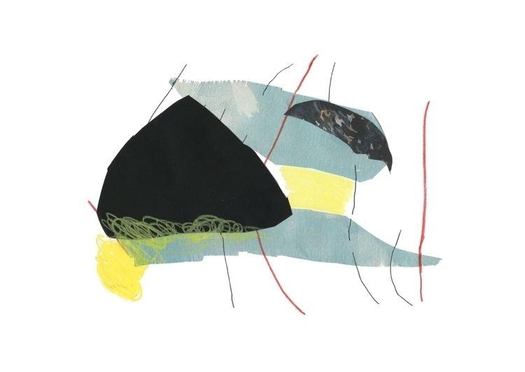 illustration, art, collage, waxpastel - notjoana | ello